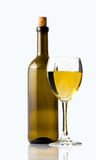 White wine and wine glass Royalty Free Stock Images