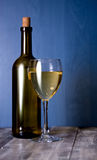 White wine and wine glass Stock Image