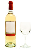 White wine with wineglass Stock Image