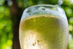 White wine in wineglass Stock Photo