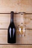 White wine on wood Royalty Free Stock Photos