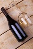 White wine on wood Stock Images