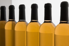 White Wine's Bottles in Line Royalty Free Stock Images