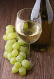 White wineglass and grape Royalty Free Stock Photo
