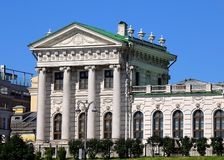White wing of the historical building in Moscow Royalty Free Stock Image