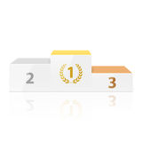 White winners podium. Illustration illustration Royalty Free Stock Photography