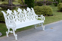 White wintage bench Stock Photos
