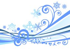 White winter background Stock Photos