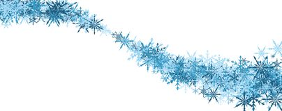 Winter banner with blue snowflakes. Royalty Free Stock Image