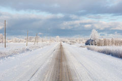 White winter road Royalty Free Stock Image