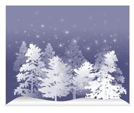 White Winter Trees Snow 2 Stock Photo