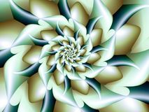 White Wintry Rose. Abstract Fractal Flower Royalty Free Stock Image