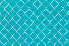 White wire fence Stock Photo