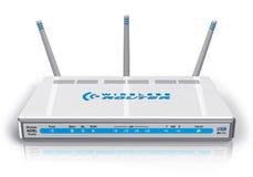 White wireless ADSL router Stock Photos