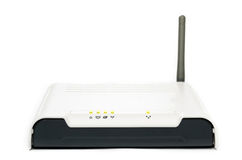 White wireless ADSL router Royalty Free Stock Images