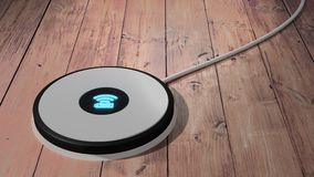 White wireless charging pad for mobile phone and tablet Stock Images