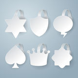 White wobbler set on gray background set. Royalty Free Stock Image