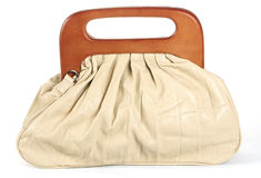 White woman bag Royalty Free Stock Image