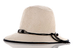 White woman big hat Royalty Free Stock Photos