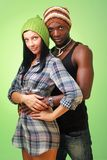 White woman and black man Royalty Free Stock Photography