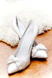 White Woman High Heel Shoes Royalty Free Stock Images