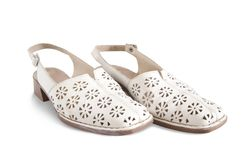 White woman's shoes Stock Images