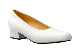 White woman shoe nice for a nurse Stock Images