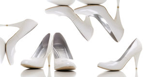 White woman shoes Royalty Free Stock Images