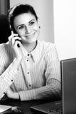 White Woman Working Royalty Free Stock Photo