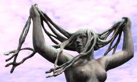 White Women Rock Statue Royalty Free Stock Image