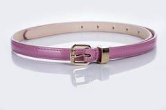 White Women's belt with rhinestones Royalty Free Stock Photography