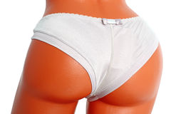 Women's white panties Stock Photo