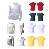 White women's T-shirt to advertise, sweatshirt, Royalty Free Stock Images