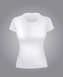White women  shirt. A White women  shirt  object Royalty Free Stock Photo