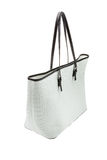 White womens bag isolated on white background. Stock Photos