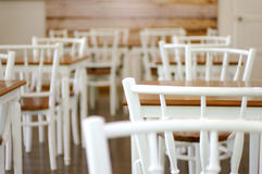 White and wood cafe Stock Photo
