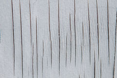 White Wood with Cracks Texture Stock Photography