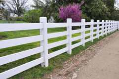 White wood fence Stock Photos