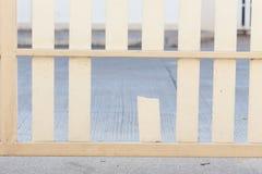 White wood fence Royalty Free Stock Photo