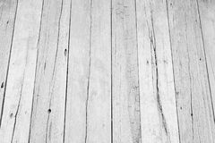 White wood floor texture background. plank pattern surface pastel painted wall; gray board grain tabletop above oak timber. Stock Photography
