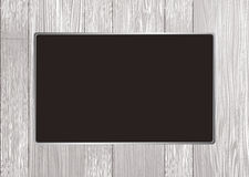 White wood frame. White wooden picture frame with silver metal bevel Royalty Free Stock Photos
