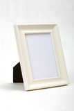 White wood frame white background. This is a white wood frame white background Royalty Free Stock Photo