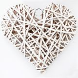 White wood heart Royalty Free Stock Photography