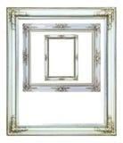 White wood photo image frame isolated Stock Images