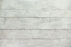 White Wood Plank Background. Old white weathered pine wood plank table top background royalty free stock photography
