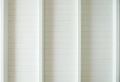 White wood plank roof. In room royalty free stock photography