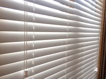 White Wood window blinds Royalty Free Stock Photo