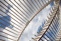 White Wooden Arbor Stock Image