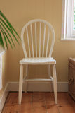 White wooden bathroom chair Royalty Free Stock Image