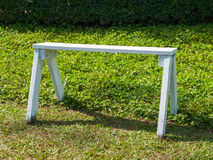 White wooden bench Royalty Free Stock Image